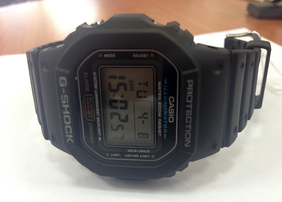 Casio G-Shock DW-5600E-1V дисплей